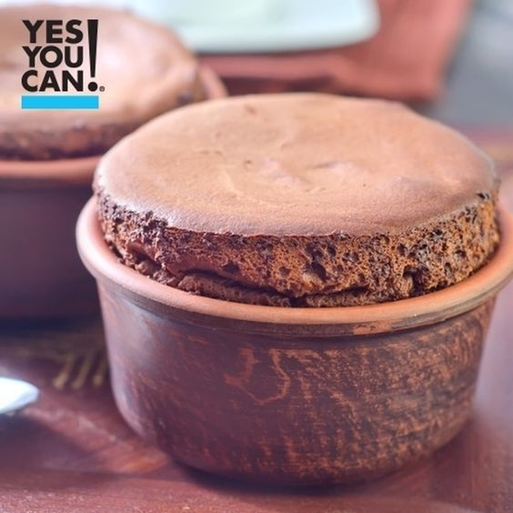 Doble tap if you are a #CHOCOLATE Lover . Here is a delicious #YesYouCan Chocolate Soufflé for your snack!  Ingredients:  #1 cup egg whites #1/2 Tbsp. cocoa powder #1 Tbsp Yes You Can! Diet Plan Choco brownie protein shake #1/2 tbsp baking powder #2 tbsp almond milk #Artificial sweetener to taste  Chocolate sauce: #2 tbsp es You Can! Diet Plan choco brownie shake #1 pack artificial sweetener #1 tbsp water  Preparation: #Blend the egg whites, cocoa powder, protein, baking powder, almond milk…