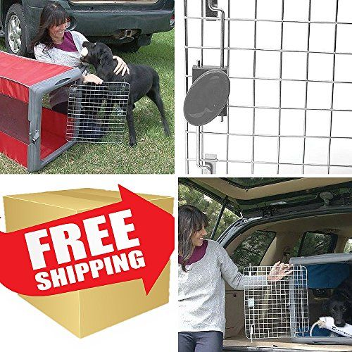Collapsible Dog Crate,Pop Up Dog Crate,Dog Cages For Cars,Pet Crates,Best Dog Carrier,Dog Travel Crate,Large Dog Crates-Collapses Flat For Easy Storage