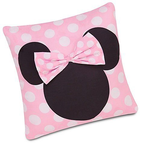 Disney Minnie Mouse Decorative Pillow 16x16 by Disney. $16.99. Minnie Mouse theme. Dimensions: 16 x 16 inches. Care: Spot clean. Material: Polyester. Soft microfiber. This polka-dotted pillow is as sweet as Minnie herself and is a must have for all Minnie Mouse fans out there.. Save 43%!