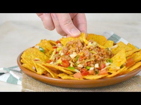 Nachos con carne. Receta fácil de cocina mexicana   Cuuking! Recetas de cocina