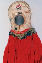After her bus accident, Kahlo was in a full body cast for three months, and she remained in pain for the rest of her life. She painted her casts and corsets, turning them from medical equipment into artworks