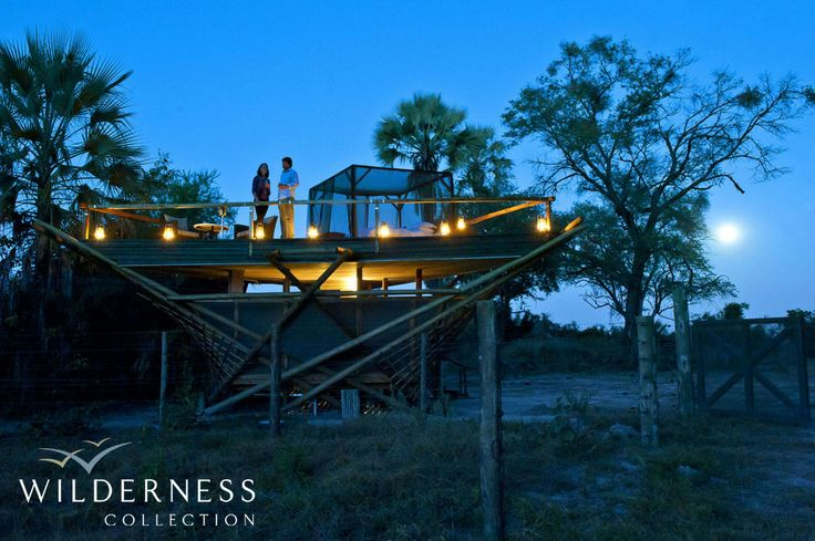 End your evening at Abu Camp curling up above the elephants in a one-of-a-kind 'star-bed' whilst listening to the herd's low snores below. #OkavangoDelta #Botswana #Africa #luxury_safari #elephant_encounters