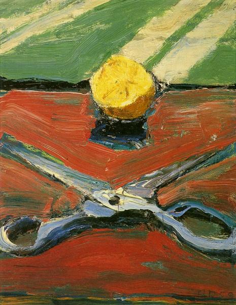 Richard Diebenkorn - Scissors and Lemons, 2010                                                                                                                                                                                 Plus