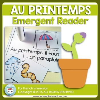 Le Printemps - FRENCH Spring Emergent Reader - AU PRINTEMPSYour students will love this book so much, theyll beg you for more, so why not get the Emergent Readers BUNDLE, which includes this item and many, many more for a 50% discount?Help your students ease their way into reading French through the use of emergent readers.Emergent readers: introduce vocabulary in repetitive sentence structures with the support of fun illustrations increase task independence boost students'…