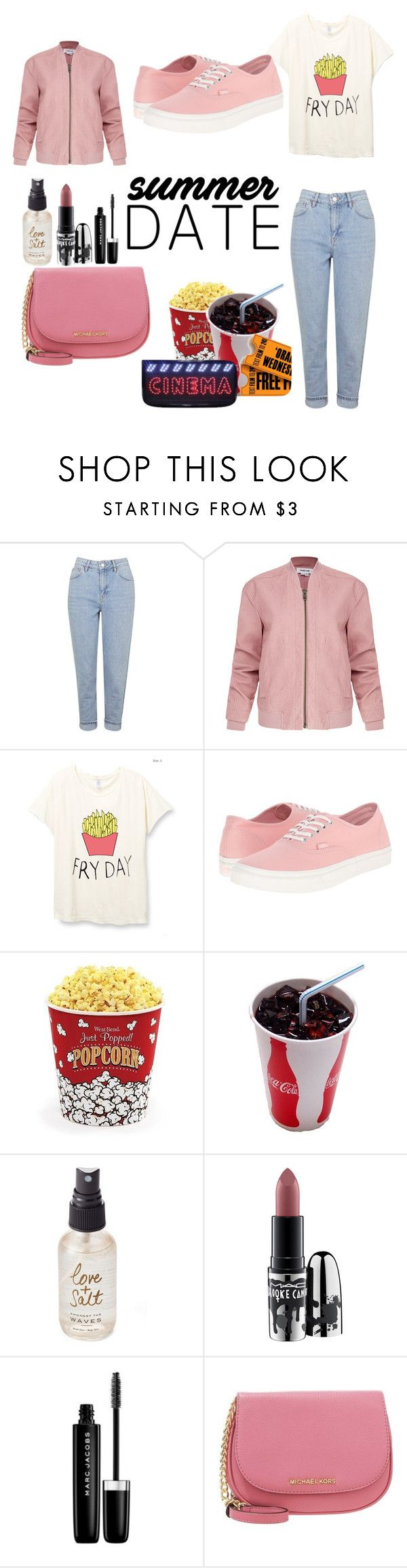 """""""Summer date:  date night"""" by zahrohusna on Polyvore featuring Topshop, Helmut Lang, Vans, West Bend, Olivine, MAC Cosmetics, Marc Jacobs, DateNight, drivein and summerdate"""
