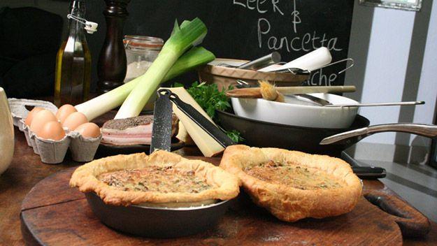 Mindennapi kenyerünk: Szalonnás, póréhagymás quiche