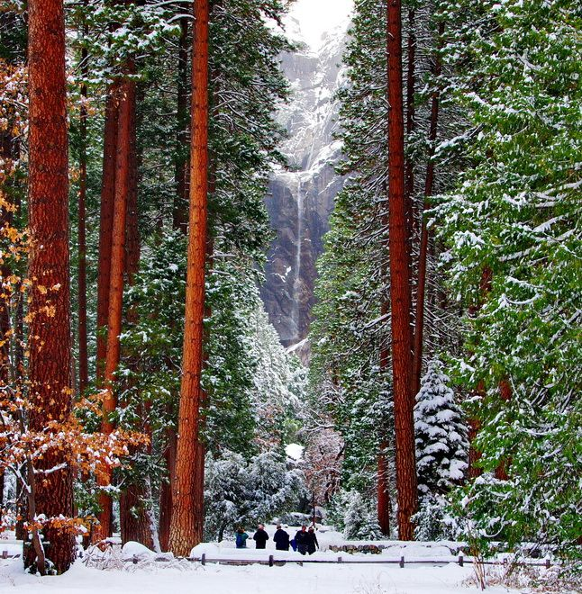 Yosemite Falls from Visiting Yosemite in Winter by Hike Bike Travel