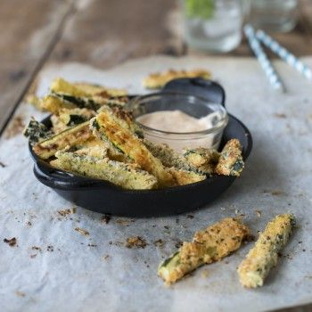 Baked Parmesan Courgette Fries
