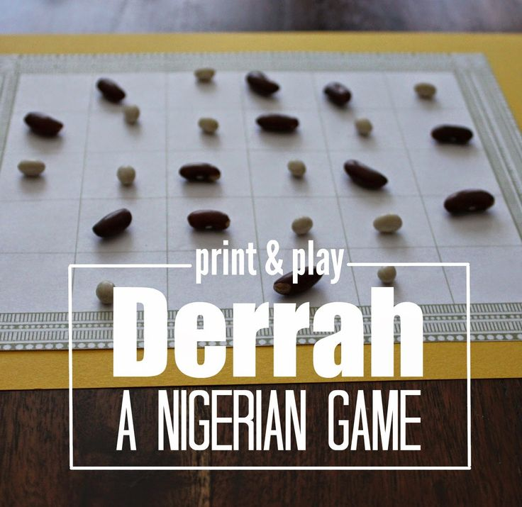 """Marie's Pastiche: West African Game: How to Play the Nigerian Game """"Derrah""""   With Printable Game Board"""