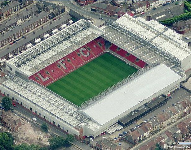 Anfield Stadium - Home to Liverpool FC.