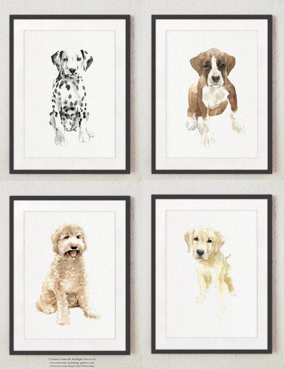 Puppy Dogs Dalmatian Boxer Golden Doodle Labrador Retriever Etsy