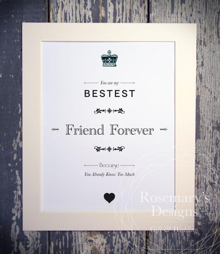 Bestest Friend / Sister / Brother Forever Print by DesignsFromRosemarys on Etsy https://www.etsy.com/uk/listing/281705088/bestest-friend-sister-brother-forever