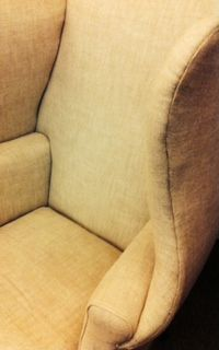 Curved wing back chair @ OP Jenkins Furniture and Design