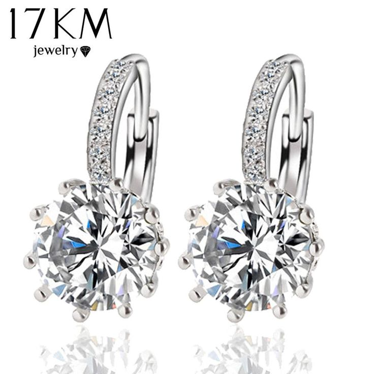 Stud Earrings  Fashion Alloy Silver Color 10 Color Geometry Crystal Earring Simple Jewelry Design Round Zirconia Earrings Statement  For Women <3 This is an AliExpress affiliate pin.  Locate the offer on AliExpress website simply by clicking the VISIT button