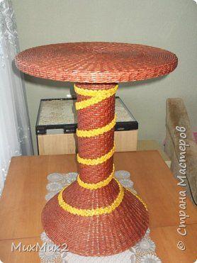 Поделка изделие Плетение У меня тоже был кофейный столик Трубочки бумажные фото 1