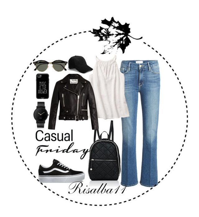 Casual by risalba on Polyvore featuring Acne Studios, Frame, Vans, STELLA McCARTNEY, South Lane, rag & bone, Ray-Ban and Casetify