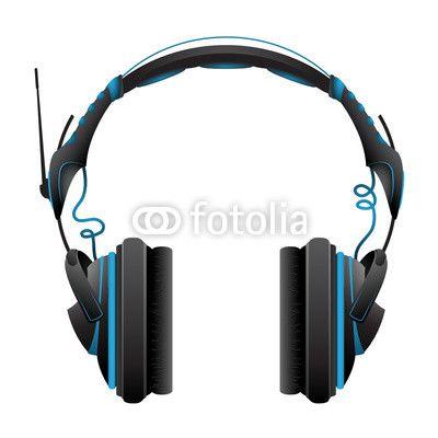 Vektor: audio kopfhörer modern