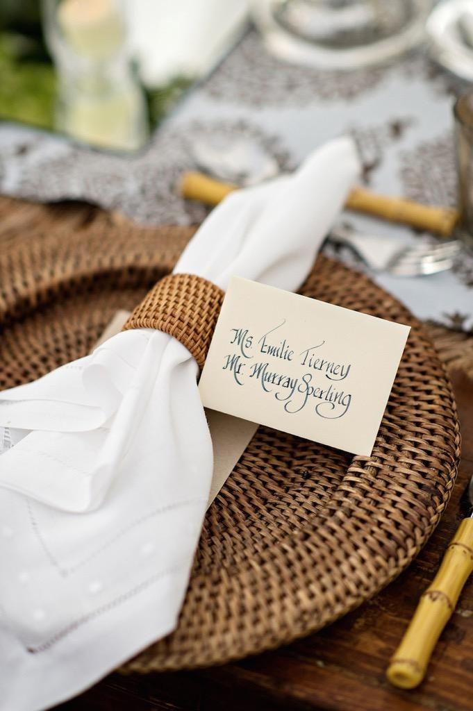 Rattan Plate mats in wedding #mats #rattanmats #Vietnammats #party #wedding