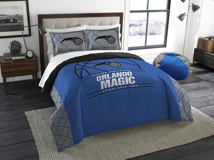 Orlando Magic NBA Reverse Slam Full-Queen Comforter Set.  Includes 2 Shams and Comforter. Visit SportsFansPlus.com for Details.