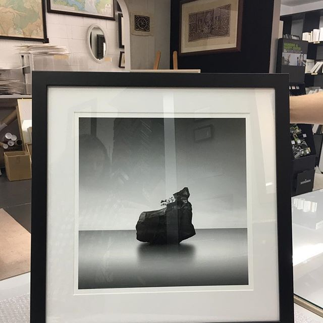 More inspiration for framing black and white photos! ⠀  ⠀  This one is one of the more standard approaches, white mat and black frame. The width of the black frame should be dictated by the size and vibe of the image. Some very dark and contrasty images can handle a wider frame as the addition of more black wont overpower it. With the very dark rock in the middle, this frame can definitely handle the slightly wider profile.    #Regram via @elframonz