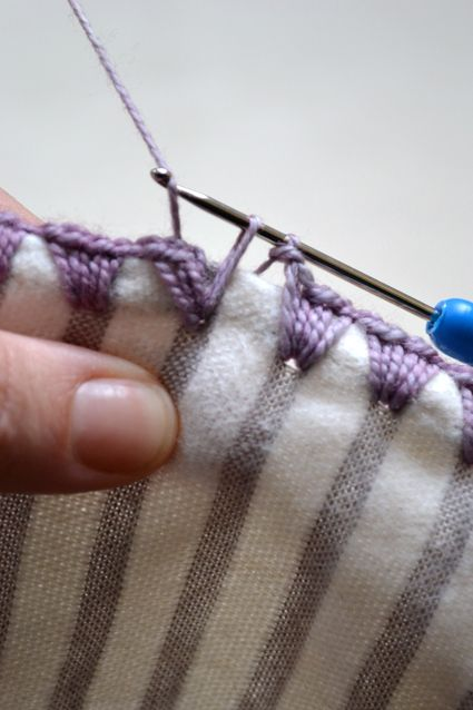 How to crochet the edges on receiving blankets.