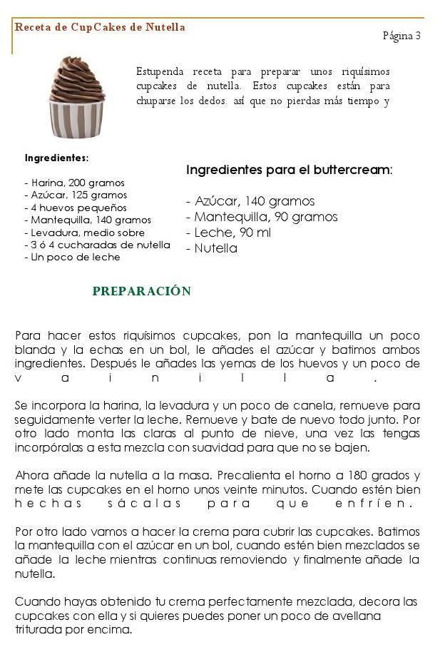 CUPCAKE DE NOCILLA