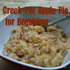 Crock-Pot Apple Pie Crock-Pot Apple Pie for Breakfast - Cook...  Crock-Pot Apple Pie Crock-Pot Apple Pie for Breakfast - Cook this oatmeal overnight in your slow cooker and wake up to a delicious and hearty warm breakfast in the morning! | CrockPotLadies.com Recipe : http://ift.tt/1hGiZgA And @ItsNutella  http://ift.tt/2v8iUYW