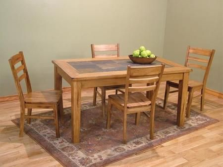 Sedona Collection 1170RODT4C 5 Piece Dining Room Set With Table And 4 Chairs In