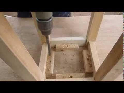 Como hacer una banca de madera facil paso a paso luis for Como hacer una pileta de ladrillos