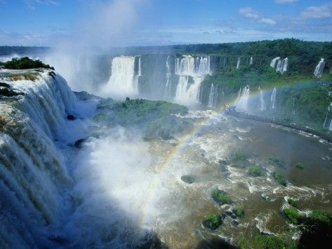 Iguazu Waterfalls and Rainbow. Photographic Print by Joseph Sohm at AllPosters.com