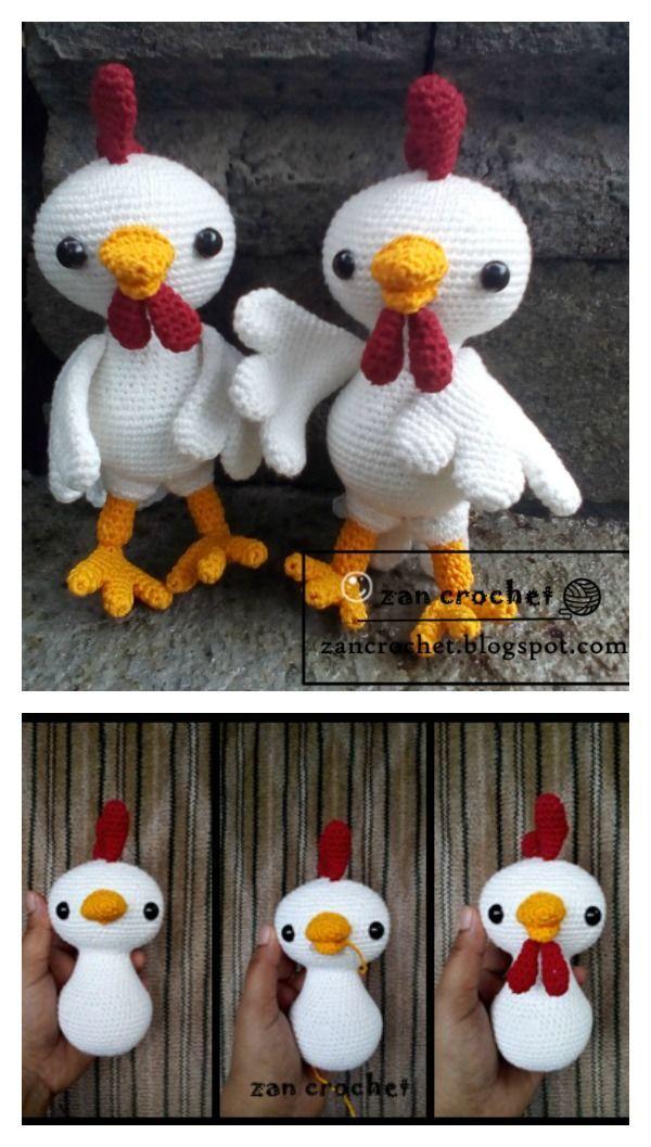 Crochet Rooster Amigurumi Free Pattern Crochet Pinterest