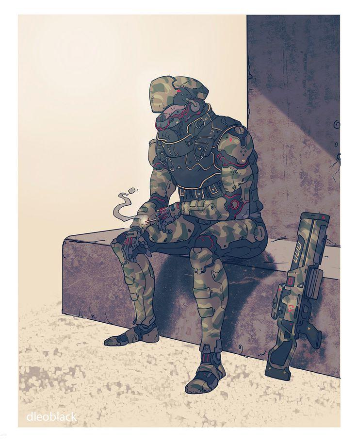 rest, . Dleoblack on ArtStation at https://www.artstation.com/artwork/zn3NL