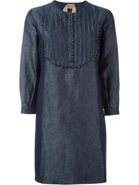 Nº21 платье шифт из шамбре