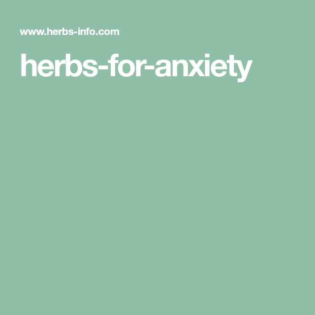 herbs-for-anxiety
