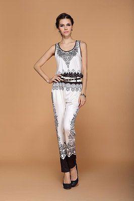 Hot Euramerican Women's Summer Sleeveless Jumpsuits Printing Elegant playsuits