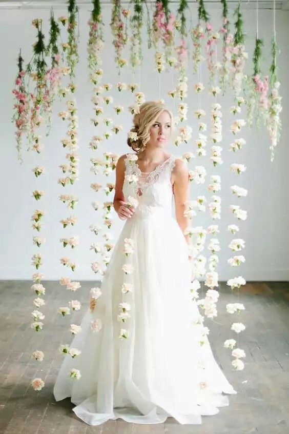 Pretty flower curtain inspiration