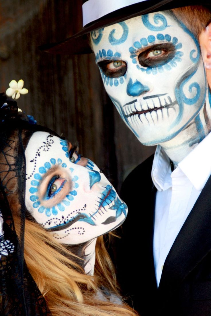 Couple Day of The Dead Halloween Makeup