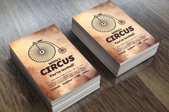 Circus - Invitation by VectorMedia on @creativemarket