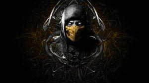 Preview wallpaper mortal kombat x, scorpion, face, ninja, mask 1920x1080