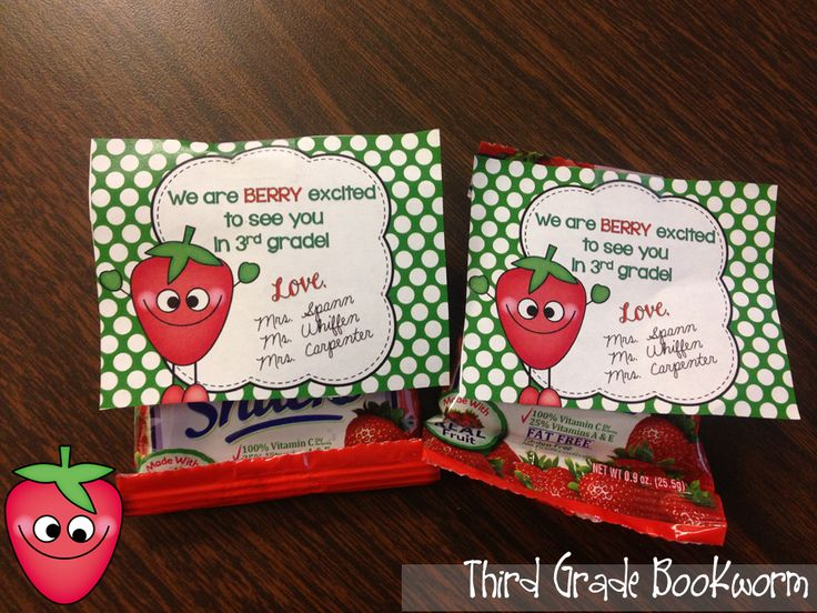 A *Berry* Easy Back to School Treat! #ClassroomFreebies