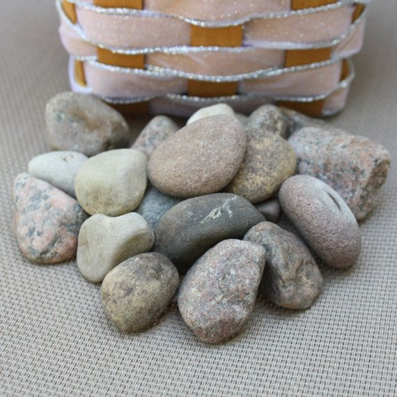 20 Wishing Stones  Guest Book Stones  Beach by LakefrontLiving