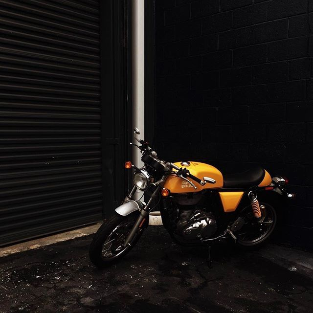 Brother Moto on Instagram - It's a rainy day in the neighborhood. Photo by @yellowbirdvisuals   #royalenfield #continentalgt #atlanta #atl #brothermoto #caferacer