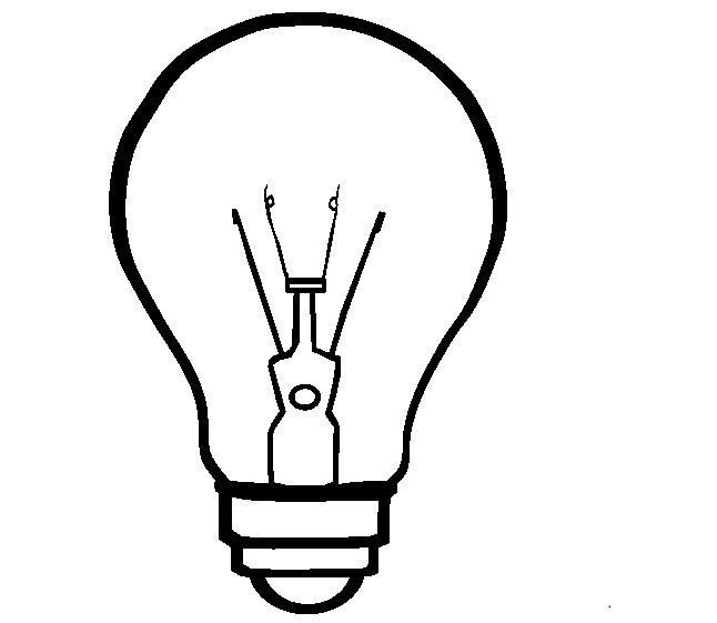 Light Bulb Coloring Page Coloring Pages How To Make Light Bulb