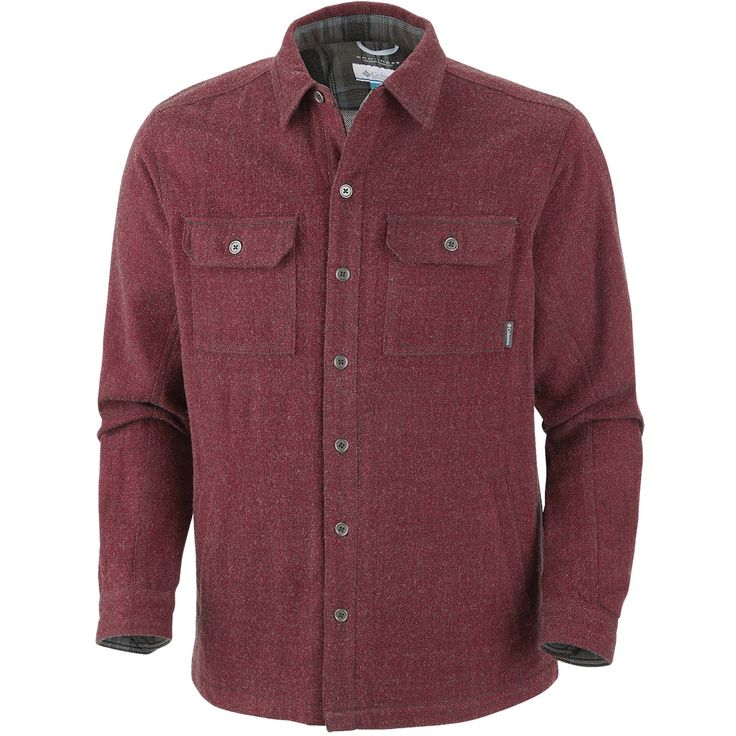 Columbia sportswear noble falls omni heat shirt jacket for Red velvet button up shirt