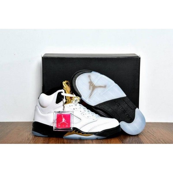 cheap air jordan 5 retro olympic gold medal white black metallic gold coin 2016 outlet sale