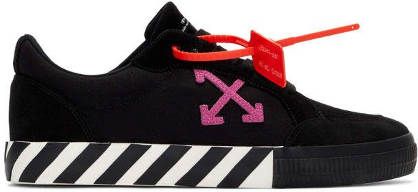 Off-White Black and Pink Low Vulcanized