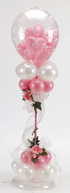 Balloon Topiary.  #balloon-column #balloon-decor #balloon-wedding-decor #balloon-topiary