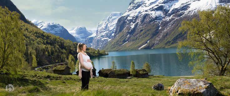 Pregnant photography at Loen in Stryn, Norway