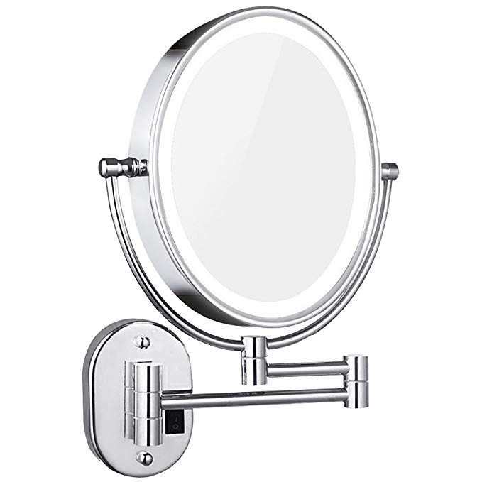 Dowry Lighted Magnifying Mirror Wall Mounted Oval Double Side 1x