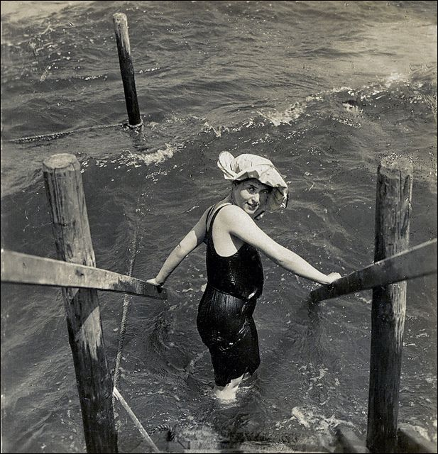 Certainly considered risque in the early 1900s. NPG, Berlin. Ca. 1910. At the Sea by ookami_dou, via Flickr